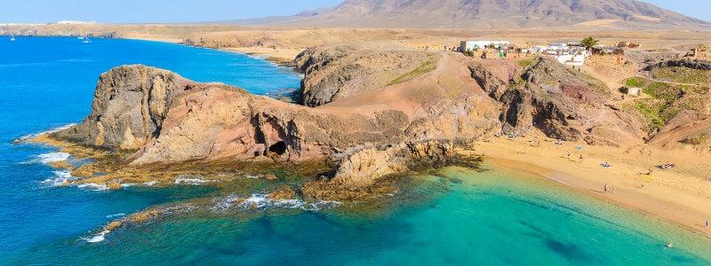 Lanzarotės paplūdimys Kanarų salose