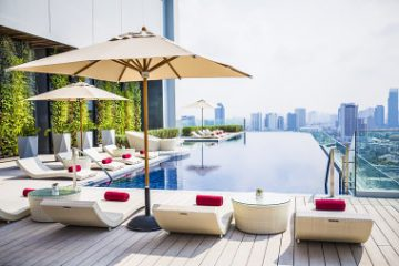 Bankoko viešbučiai su stogo baseinais
