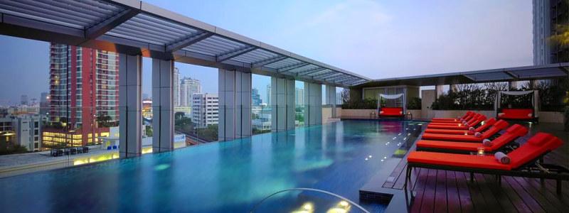 Bangkok Marriott Hotel Sukhumvit baseinas