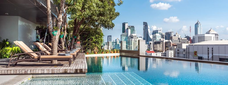 Novotel Bangkok Platinum Pratunam stogo baseinas