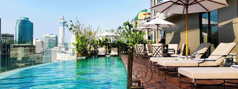stogo baseinas viešbutyje Muse Bangkok Langsuan