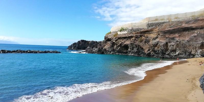 Pakrantė Playa Abama paplūdimyje